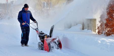 Úklid sněhu frézou